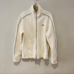 Le Tigre | cream zipper Jacket with blue strip